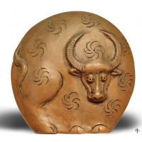 Buy cheap Clay Figurine Cow from wholesalers