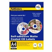 Buy cheap FullColors PHOTO PAPER 100gsm Self-adhesive matte coated CD labels from wholesalers