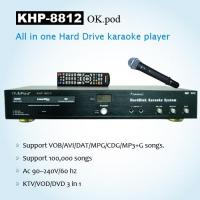 Buy cheap KARAOKE PRODUCTS All-In-One HD karaoke player with DVD-ROM, MIC echo,Support VOB/AVI/DAT/MPG/CDG/MP3+G songs . from wholesalers