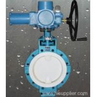 Buy cheap Valves Electrical actuator PTFE lined butterfly valve Zhejiang,China (Mainland) from wholesalers