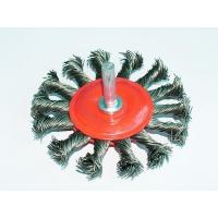 Buy cheap twisted knot wheel brush with shank from wholesalers