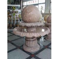 Buy cheap Lantern Product Namered line marble two-layer fortune ball sculpture from wholesalers