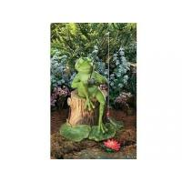 Buy cheap Polyresin Statues Resin Fishing Frog Garden Statue from wholesalers