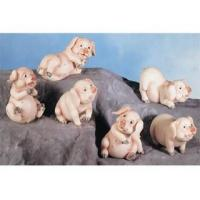 Buy cheap Polyresin Animal Figurines Polyresin Pig Figurines Set from wholesalers