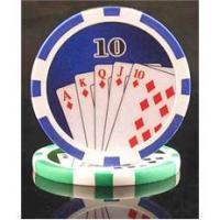 13.5g 500pc ace king tri color clay poker chips
