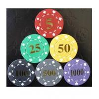 Buy cheap 11.5g poker chips Suited Poker Chips with Hot Stamping from wholesalers