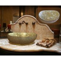 Buy cheap project honey onyx mosaic sink bathroom project 01 from wholesalers