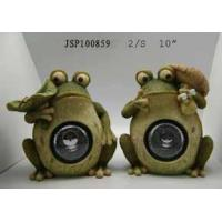 Buy cheap Polyresin Polyresin Frog Solar Light,2/S from wholesalers