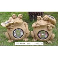 Buy cheap Polyresin Polyresin Frog Solar Light from wholesalers