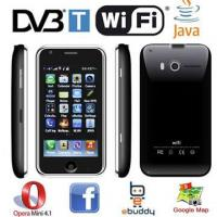 Buy cheap L007 DVB-T Digit+Analog TV 3.6 inch touch screen wifi java quad band mobile phone from wholesalers