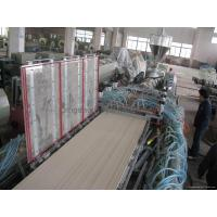 Buy cheap PVC Wood Plastic Door Board Extrusion Line from wholesalers