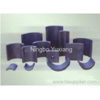 Buy cheap Ferrite Magnets sintered hard ferrite arc segment anisotropic magnet from wholesalers