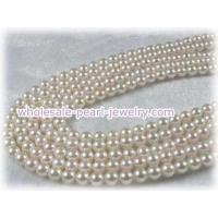 Buy cheap White Round 5.5-6mm saltwater pearl strands from wholesalers