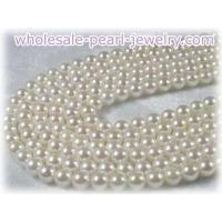 Buy cheap 6.5-7mm white chinese saltwater pearl strands from wholesalers
