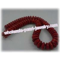 Buy cheap 16mm dishing red sponge coral strands, 16in length from wholesalers