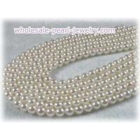 Buy cheap Round 6-6.5mm chinese saltwater pearl strands from wholesalers