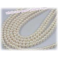Buy cheap cultured saltwater akoya pearl strands wholesale,4.5-5mm from wholesalers