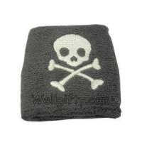 Buy cheap Skull Embroidery Wristbands from wholesalers