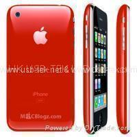 Wholesales red Ciphone I9B 3G 16gb java 2.0 dual sim mobile phone