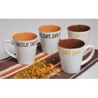 Buy cheap M61430046 12oz coffee mug, stoneware with decal, 2-tone color from wholesalers