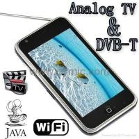Buy cheap W009E DVBT WIFI TV JAVA GSM Dual SIM Quad Band Bluetooth 3.6 Touch Mobile Cell from wholesalers