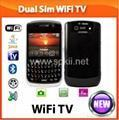 Buy cheap Promotion!Blackberry 8900 wifi java tv mobile phone with track ball from wholesalers