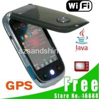 China Free Shipping F038 Dual Card Quad Band GPS WIFI TV Touch Screen Cell Phone Black on sale