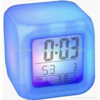 Buy cheap 7-colors changing light with sound clock/novelty gift SS-101 from wholesalers