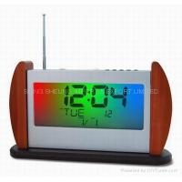 Buy cheap -color Flashing FM Digital Radio with Wooden base SS-7011 from wholesalers