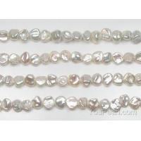 Buy cheap 6-8mm white keshi pearl center drilled strand wholesale, AA from wholesalers