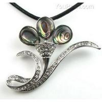 Buy cheap Paua/abalone trumpet flower shell pendant wholesale from wholesalers