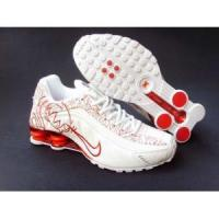 Buy cheap Nike Shox R4 womens shoes (white/red) from wholesalers
