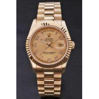 Buy cheap Replica Rolex Day Date rl180 18k yellow gold Men's watch with Asia Automatic Movement 34mm from wholesalers