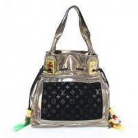 Buy cheap Louis Vuitton LV M85506 S/S 2009 Runway Tote LightGold & Suede Bag Black from wholesalers