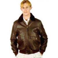 Buy cheap Mens Aviation Men's Navy Leather Jacket from wholesalers