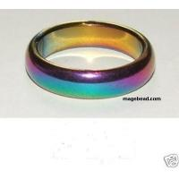 Buy cheap Magnetic finger ring Rainbow Magnetic Hematite finger Ring from wholesalers