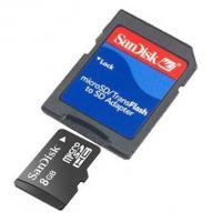 Buy cheap Sandisk 8GB Micro SD SDHC MicroSD Memory Card + Adpter from wholesalers