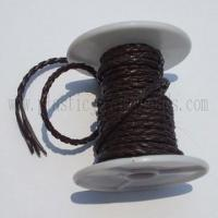 Buy cheap Braided Leather jewelry necklace Cord--braided leather cord from wholesalers