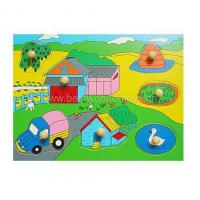 Buy cheap Wooden Educational Toys Village Peg Puzzle from wholesalers