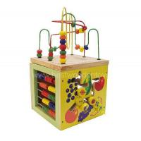 Buy cheap Wooden Educational Toys 5 way giant bead maze cube from wholesalers