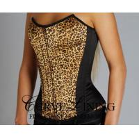 Buy cheap Leopard Satin Overbust Corset CL-C21 from wholesalers