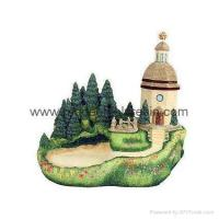 China polyresin country house,resin miniature building,house miniature model on sale