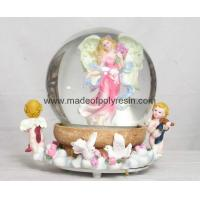 Buy cheap polyresin/polystone angel snow ball,snowglobe from wholesalers