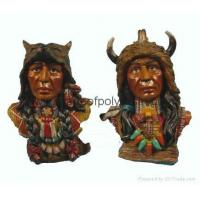 Buy cheap Polyresin indian head,resin inian crafts,inian sculpture from wholesalers