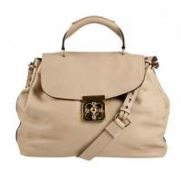 Buy cheap Cream soft grain leather shoulder bag from wholesalers