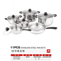 Buy cheap 11pcs Stainless steel pan sets from wholesalers