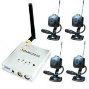 Buy cheap 2.4 GHz Wireless Mini Spy pinhole Camera (4) Security Set product