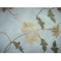 China Organza Embroidery Fabric 07012 (Plat Embroidered Organza) on sale