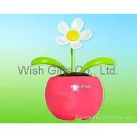 Buy cheap Solar Dancing Flower with mini apple pot from wholesalers