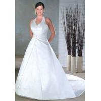 Buy cheap white high quality sation plus size wedding dress from wholesalers